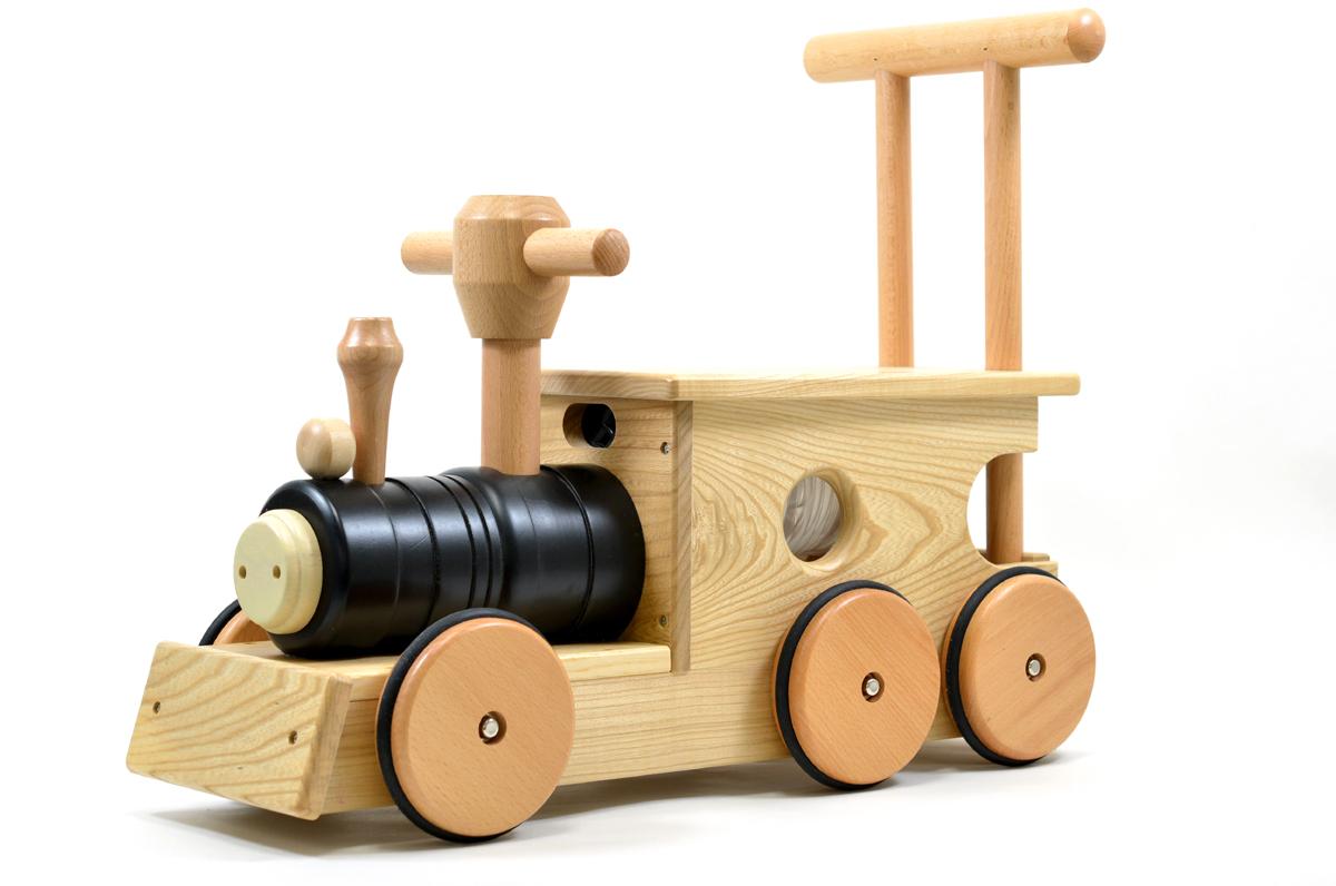 汽車ポッポ 黒(木輪)