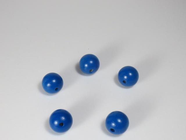 カラー木球 10Φ 穴3 5ヶ入 青