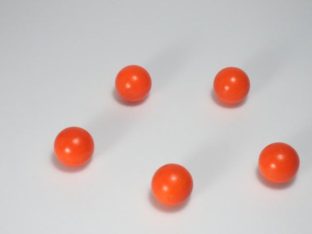 カラー木球10Φ 5ヶ入 オレンジ