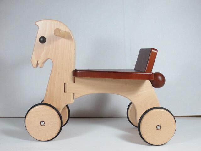 【送料無料】ポニー 日本製木のおもちゃ のりもの ぶなの木 プレゼント