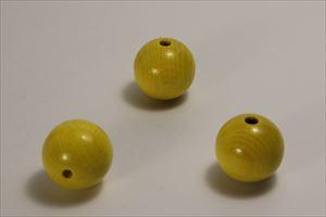 カラー木球 30Φ 穴5  3ヶ入  黄