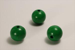 カラー木球 30Φ 穴5  3ヶ入 緑