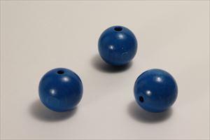 カラー木球 30Φ 穴5  3ヶ入 青