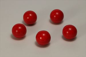 カラー木球25Φ 5ヶ入 赤