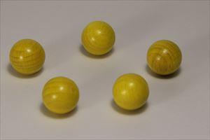 カラー木球25Φ 5ヶ入 黄