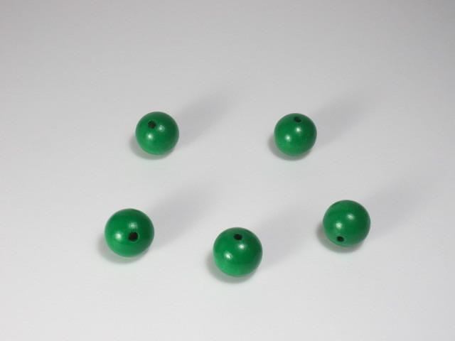 カラー木球 10Φ 穴3 5ヶ入 緑