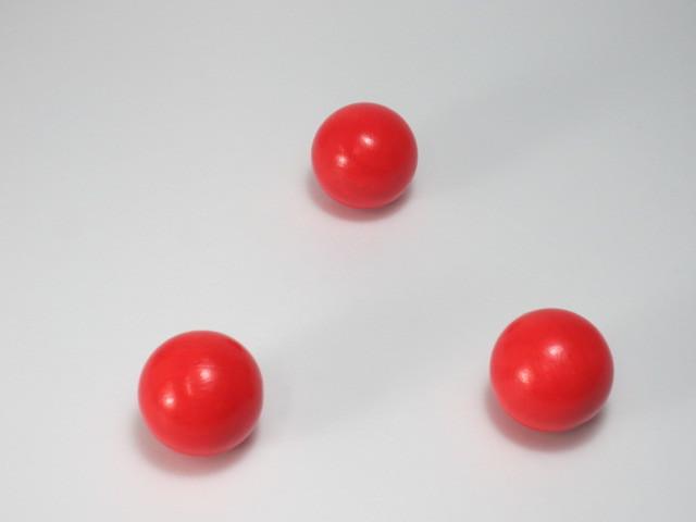カラー木球30Φ 3ヶ入 赤