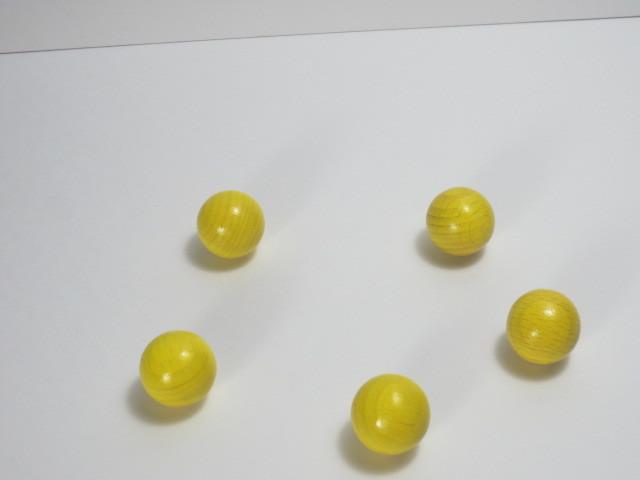 カラー木球10Φ 5ヶ入 黄