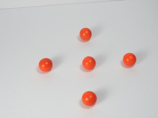 カラー木球15Φ 5ヶ入  オレンジ