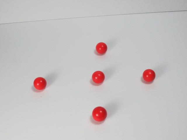 カラー木球10Φ 5ヶ入 赤