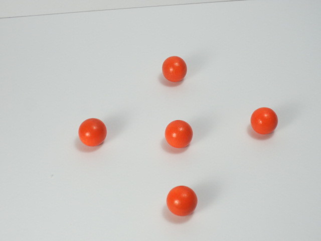 カラー木球20Φ 5ヶ入  オレンジ