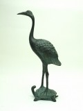 青銅立亀鶴