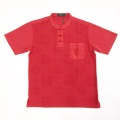 【SALE50%OFF】男性チャイナシャツ 赤