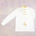 【SALE50%OFF】鹿の子織りチャイナシャツ(白)