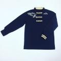 【SALE50%OFF】鹿の子チャイナシャツ(濃紺)