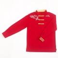 【SALE50%OFF】鹿の子織りチャイナシャツ(赤)
