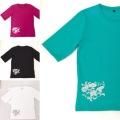 【SALE50%OFF】 レディース五分袖Tシャツ
