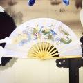 【SALE30%OFF】両面扇 白(龍鳳)