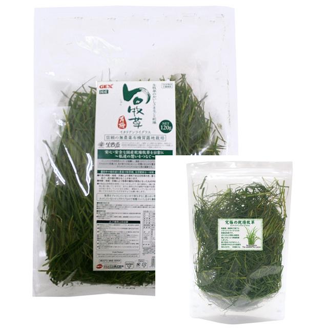 旬牧草 120g + 究極の乾燥牧草 イタリアンライグラス 40g