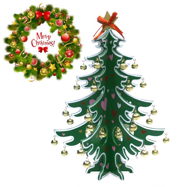 【25,000円以上でプレゼント】北欧クリスマス雑貨★木製クリスマスツリー