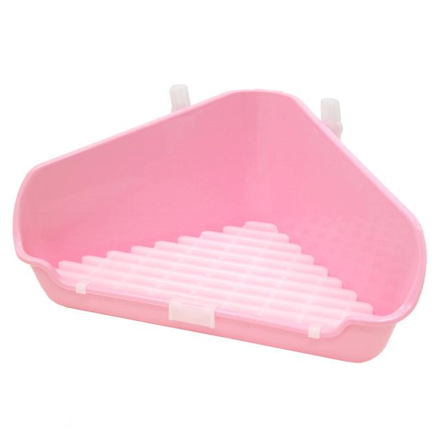 うさぎの三角トイレ ピンク