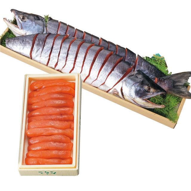 新巻鮭-いくら醤油漬