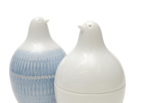 白山陶器 ピッコロ とり型蓋付きようじ立て