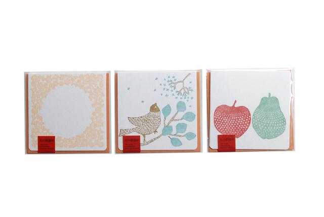 倉敷意匠計画室×点と線模様製作所 レタープレス二折カード