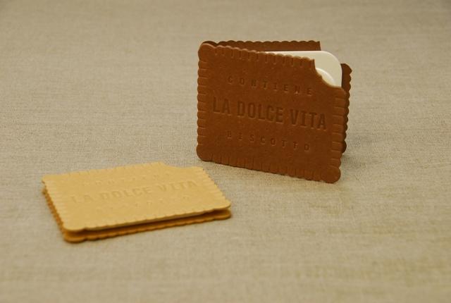 D-BROS グリーティングカード 「LA DOLCE VITA」 ビスケットカード