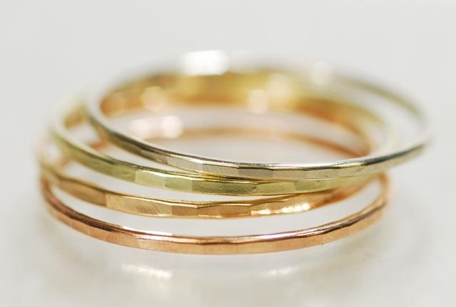 Melissa Joy Manning 「Gold Stucking Ring」 メリッサ・ジョイ・マニング 「ゴールド・スタッキング・リング」
