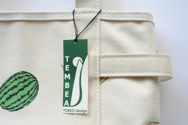 【季節限定】TEMBEA(テンベア) TOTE BAG SMALL ふた付き プリント(スイカ・バナナ)