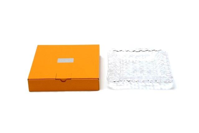Sugahara Glass(スガハラガラス) 「grid plate・グリッドプレート」 格子深皿