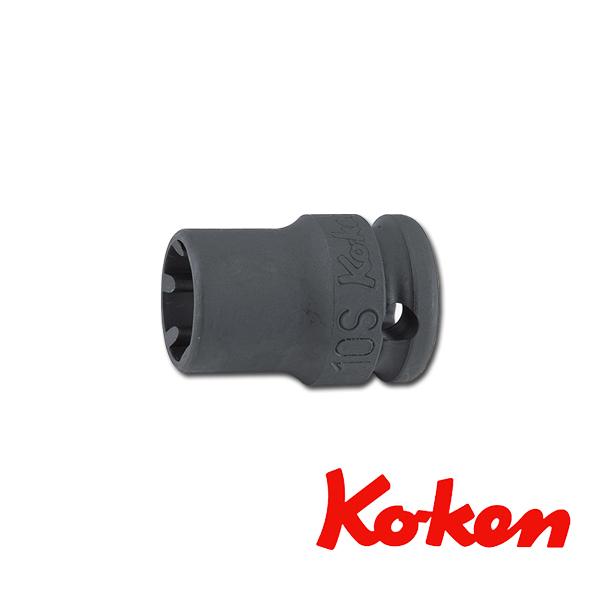"""Koken(コーケン) 3/8""""-9.5 13401LH-10S インパクトLHSソケットレンチ 10S"""