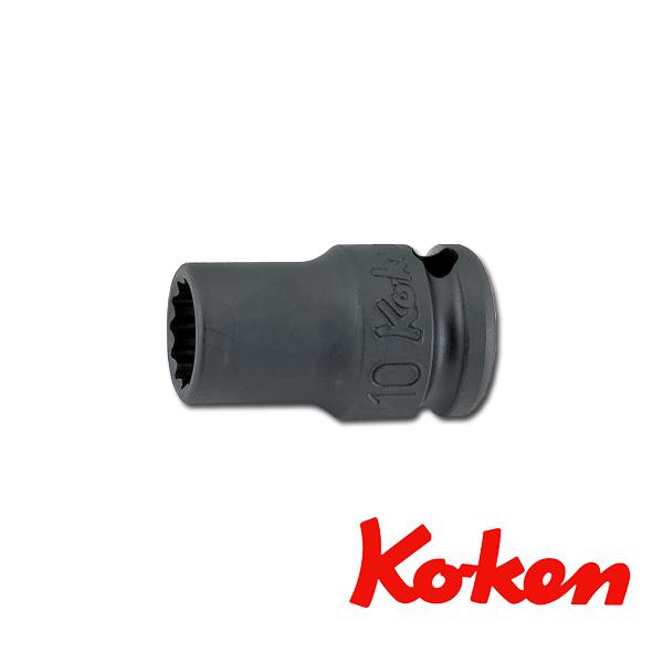 """Koken(コーケン) 3/8""""-9.5 13406M-24 インパクト薄肉ソケットレンチ 12角 24mm"""