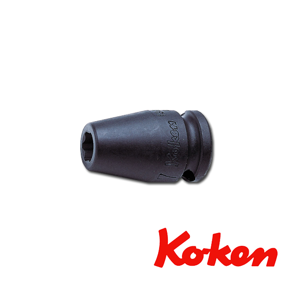 """Koken(コーケン) 3/8""""-9.5 13410M-19 インパクトサーフェイスソケットレンチ 19mm"""