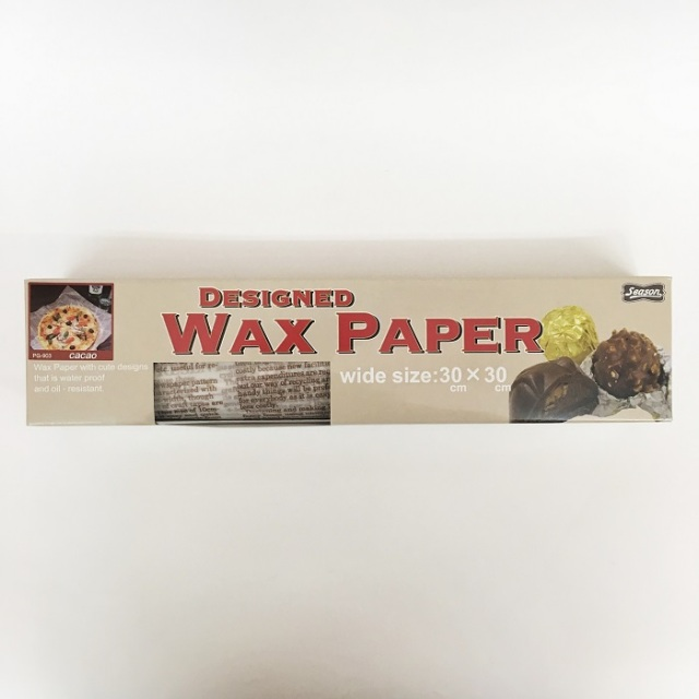 《14日納期》デザインワックスペーパー カカオ POPワイド 50枚