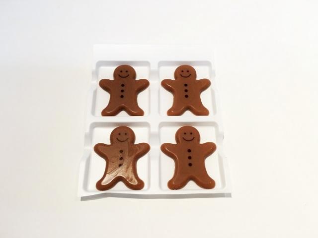 【チョコレートオーナメント】 ジンジャーマン 4枚入