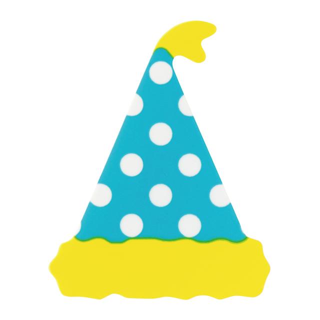 パーティーハットケーキピック/ライトブルー-2 10枚