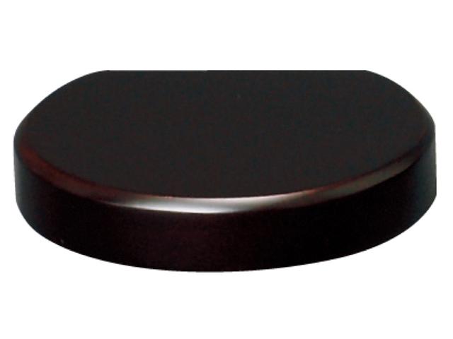 唐木 仏像台 黒檀色 丸型 1.8寸