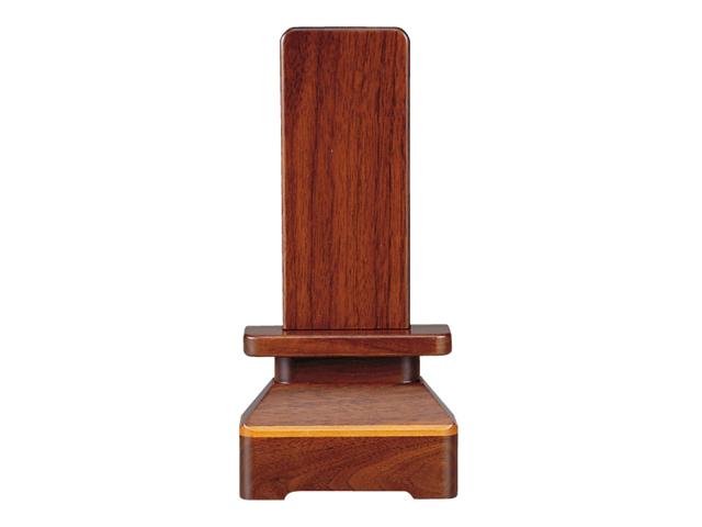 家具調 位牌【萩】 ウォールナット 3.5寸〜5.0寸/4.0寸/名入れ2名希望する/文字彫