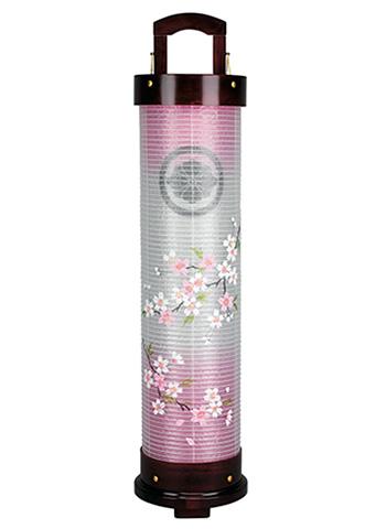 愁霊燈 桜花6号 絹二重絵