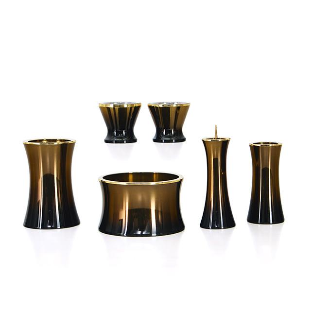 銅器 マロン コハクボカシ 2.5寸~3.0寸 6点セット