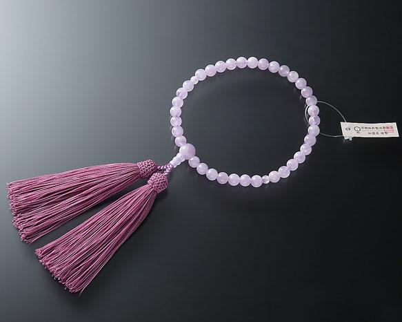 女性用 略式数珠(片手念珠) 藤雲石7ミリ 共仕立東雲房