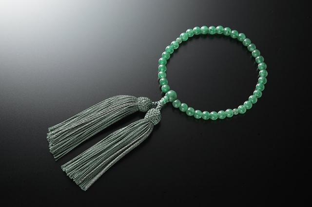 女性用数珠(念珠) アベンチュリン 天然石 共仕立