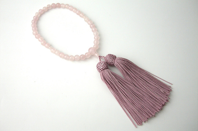 女性用数珠(念珠) 紅水晶 天然石 共仕立