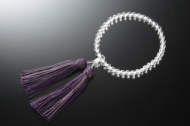 女性用数珠(念珠) 本水晶 天然石 共仕立