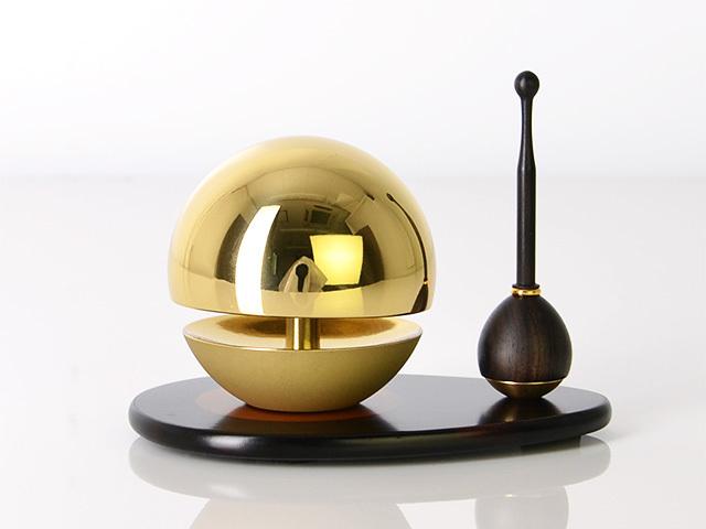 たまゆらリン ゴールド(リン棒・リン台セット) 1.8寸〜2.0寸/1.8寸/リン棒:黒檀/リン台:黒檀