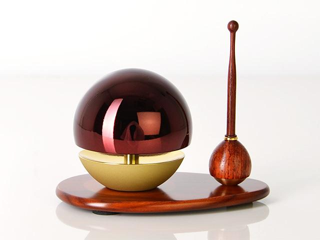 たまゆらリン レッド(リン棒・リン台セット) 1.8寸〜2.0寸/1.8寸/リン棒:花梨/リン台:花梨