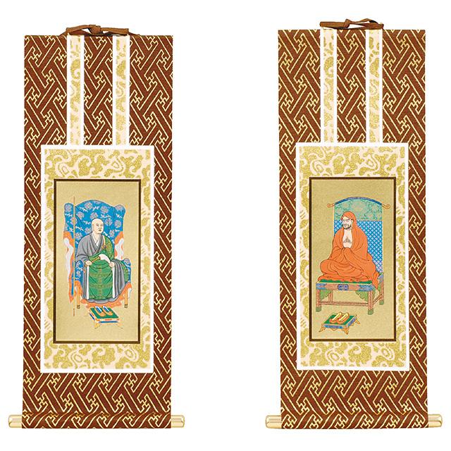激安仏壇仏具の販売ならこころあ堂へオリジナル掛軸 禅宗 両脇 20代/金地