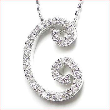【送料無料♪】 妥協のない高品質全面ダイヤモンド♪ K18ホワイトゴールド フルオーダー 【C】イニシャル ダイヤモンド ペンダント